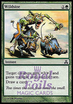 **4x FOIL Wildsize** GPT MTG Guildpact Common MINT green