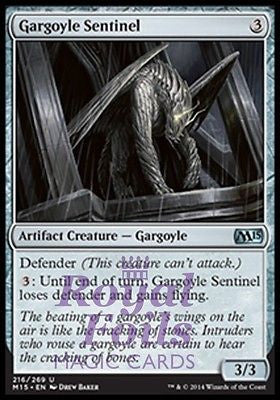 **4x FOIL Gargoyle Sentinel** MTG M15 Core Set Uncommon MINT artifact