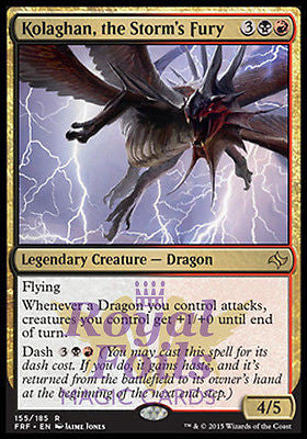 **1x FOIL Kolaghan the Storm's Fury FRF MTG Fate Reforged Rare MINT black red