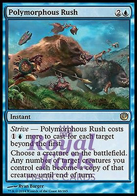 **2x FOIL Polymorphous Rush** JOU MTG Journey Into Nyx Rare MINT blue