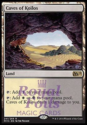 **1x FOIL Caves of Koilos** MTG M15 Core Set Rare MINT white black land
