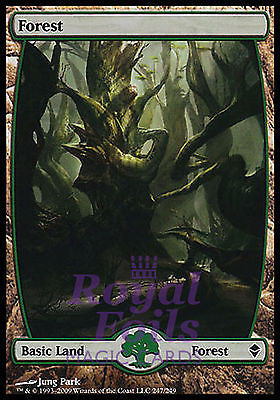 **1x FOIL Forest 247** ZEN MTG Zendikar Basic Land MINT green