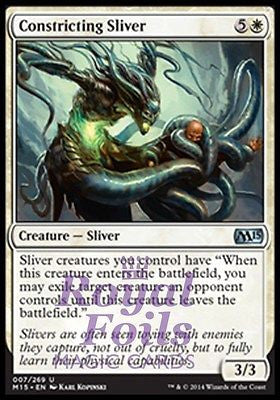 **1x FOIL Constricting Sliver** MTG M15 Core Set Uncommon MINT white