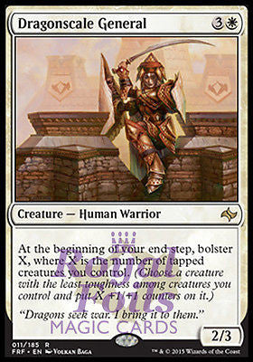 **1x FOIL Dragonscale General* FRF MTG Fate Reforged Rare MINT white