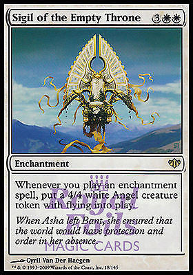 **1x FOIL Sigil of the Empty Throne* CON MTG Conflux Mythic MINT white