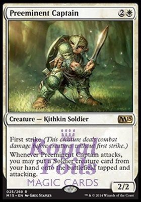 **1x FOIL Preeminent Captain** MTG M15 Core Set Rare MINT white kithkin soldier