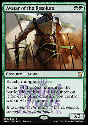 **1x FOIL Avatar of the Resolute** DTK MTG Dragons of Tarkir Rare MINT green