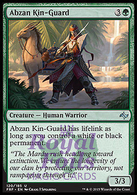**4x FOIL Abzan Kin-Guard* FRF MTG Fate Reforged Uncommon MINT green