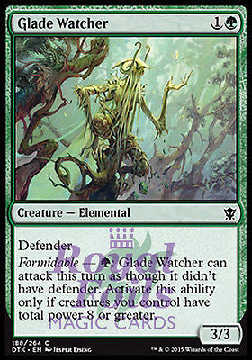 **4x FOIL Glade Watcher** DTK MTG Dragons of Tarkir Common MINT green