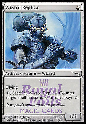 **4x FOIL Wizard Replica** MDN MTG Mirrodin Common MINT artifact
