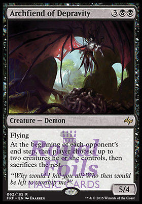 **1x FOIL Archfiend of Depravity** FRF MTG Fate Reforged Rare MINT black