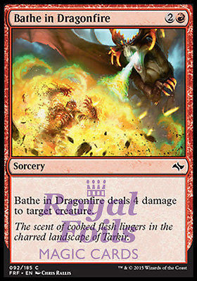 **4x FOIL Bathe in Dragonfire** FRF MTG Fate Reforged Common MINT red