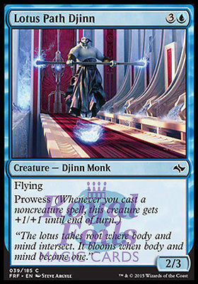 **4x FOIL Lotus Path Djinn** FRF MTG Fate Reforged Common MINT blue