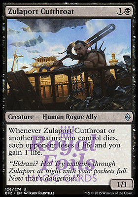 **1x FOIL Zulaport Cutthroat* BFZ MTG Battle for Zendikar Uncommon MINT black