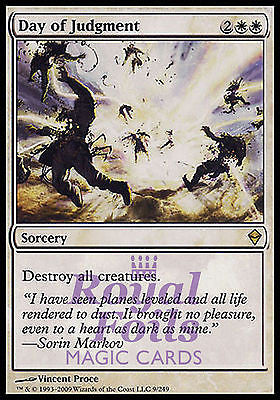 **1x FOIL Day of Judgment** ZEN MTG Zendikar Rare MINT white
