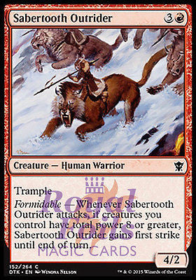 **4x FOIL Sabertooth Outrider* DTK MTG Dragons of Tarkir Common MINT red