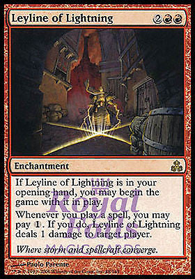 **1x FOIL Leyline of Lightning** GPT MTG Guildpact Rare MINT red