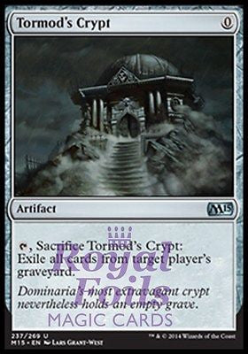 **1x FOIL Tormod's Crypt** MTG M15 Core Set Uncommon MINT artifact