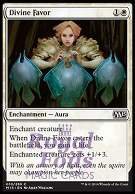 **4x FOIL Divine Favor** MTG M15 Core Set Common MINT white enchantment aura
