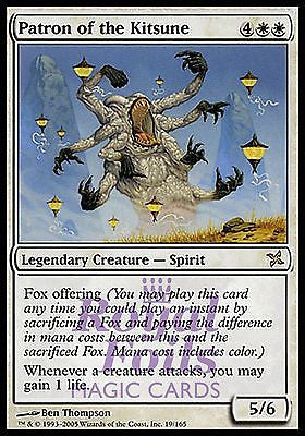 **1x FOIL Patron of the Kitsune* BOK MTG Betrayers Kamigawa Rare MINT white