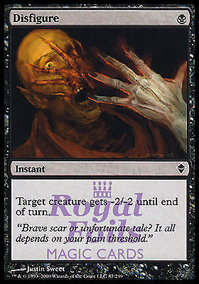 **1x FOIL Disfigure** ZEN MTG Zendikar Common MINT black