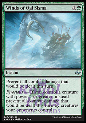 **2x FOIL Winds of Qal Sisma** FRF MTG Fate Reforged Uncommon MINT green