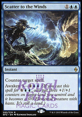 **2x FOIL Scatter to the Winds* BFZ MTG Battle for Zendikar Rare MINT blue
