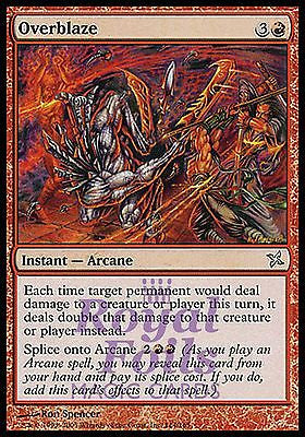 **1x FOIL Overblaze* BOK MTG Betrayers Kamigawa Uncommon MINT red instant arcane