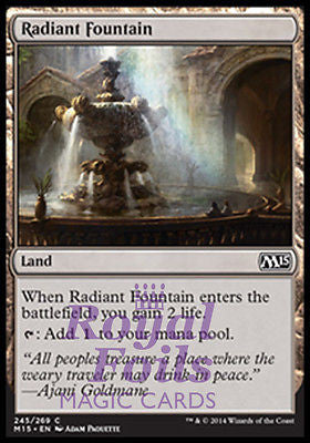 **1x FOIL Radiant Fountain** MTG M15 Core Set Common MINT land