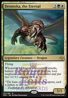 **1x FOIL Dromoka the Eternal* FRF MTG Fate Reforged Rare MINT green white