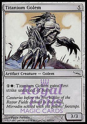 **4x FOIL Titanium Golem** MDN MTG Mirrodin Common MINT artifact