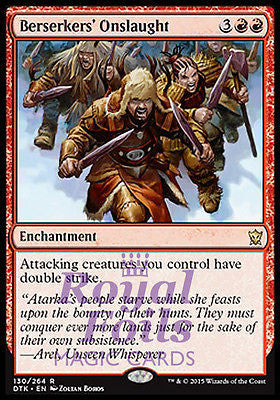 **1x FOIL Berserkers' Onslaught** DTK MTG Dragons of Tarkir Rare MINT red