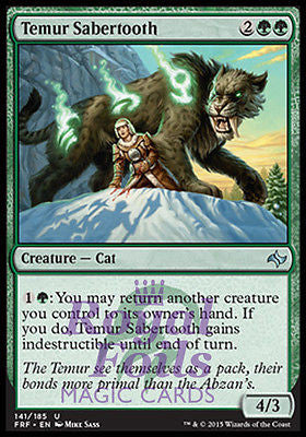 **1x FOIL Temur Sabertooth** FRF MTG Fate Reforged Uncommon MINT green