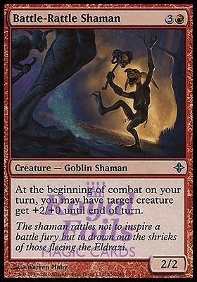 **4x FOIL Battle-Rattle Shaman** ROE MTG Rise of Eldrazi Common MINT red