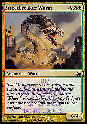 **4x FOIL Streetbreaker Wurm** GPT MTG Guildpact Common MINT red green