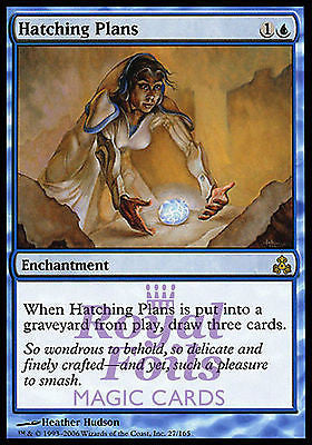 **1x FOIL Hatching Plans** GPT MTG Guildpact Rare MINT blue