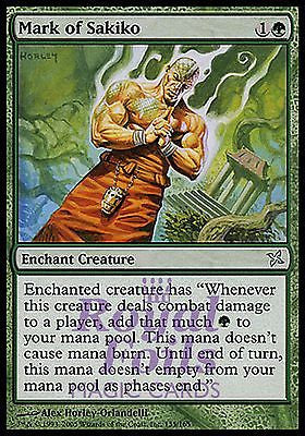 **1x FOIL Mark of Sakiko** BOK MTG Betrayers Kamigawa Uncommon MINT green