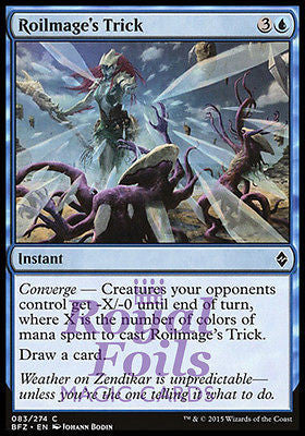 **4x FOIL Roilmage's Trick* BFZ MTG Battle for Zendikar Common MINT blue