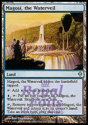 **1x FOIL Magosi, the Waterveil** ZEN MTG Zendikar Rare MINT blue land