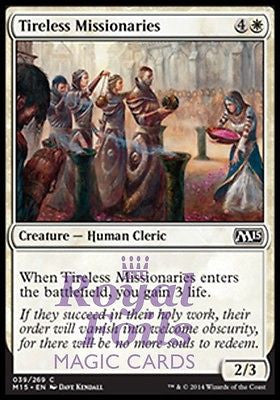 **4x FOIL Tireless Missionaries* MTG M15 Core Set Common MINT white human cleric
