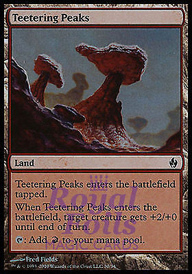 **3x FOIL Teetering Peaks** ZEN MTG Zendikar Common MINT red land