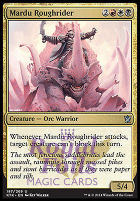 **4x FOIL Mardu Roughrider** MTG KTK Khans of Tarkir Uncommon MT red white black