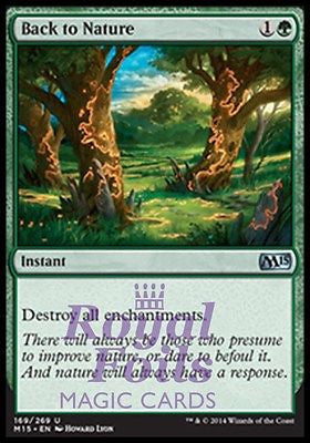 **1x FOIL Back to Nature** MTG M15 Core Set Uncommon MINT green instant