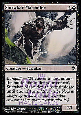 **5x FOIL Surrakar Marauder** ZEN MTG Zendikar Common NM black