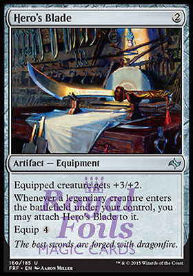 **1x FOIL Hero's Blade** FRF MTG Fate Reforged Uncommon MINT artifact