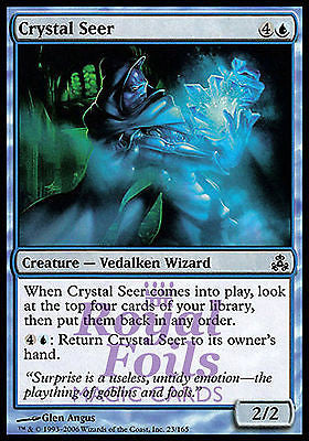 **4x FOIL Crystal Seer** GPT MTG Guildpact Common MINT blue