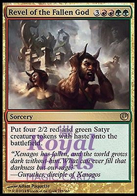 **2x FOIL Revel of the Fallen God JOU MTG Journey Into Nyx Rare MINT red green