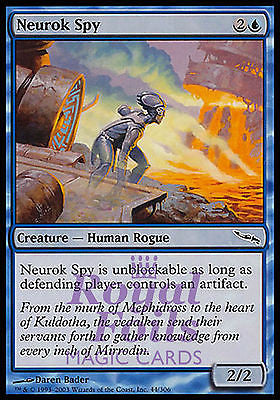 **4x FOIL Neurok Spy** MDN MTG Mirrodin Common MINT blue human