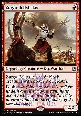 **1x FOIL Zurgo Bellstriker* DTK MTG Dragons of Tarkir Rare MINT red