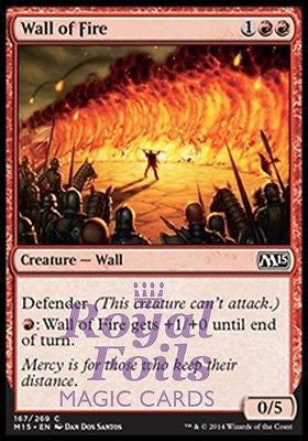 **4x FOIL Wall of Fire** MTG M15 Core Set Common MINT red